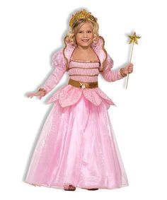 Love this Gold & Pink Princess Dress-Up Outfit - Girls on #zulily! #zulilyfinds