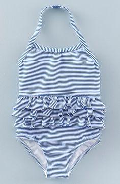 Mini Boden Ruffle One-Piece Swimsuit (Toddler Girls, Little Girls & Big Girls)