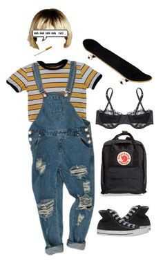 """No."" by xllix on Polyvore featuring Fjällräven, Converse, Morgan Lane, modern and vintage"