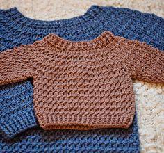 Crochet PATTERN Boy Sweater by monpetitviolon on Etsy