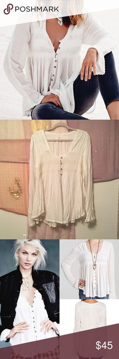 Free People Smocked Top Size L NWT Free People Smocked Top Size L. Very comfy. No trades. Price is firm. Free People Tops