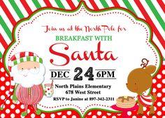 Breakfast with Santa Christmas Pancakes by PrettyPaperPixels