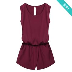 Sleeveless Open back Romper - Sleeveless open back RomperFabric Type: Broadcloth   - On Sale for $28.00 (was $34.00)