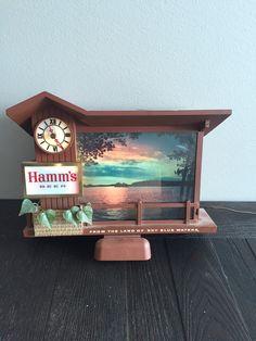 Vintage Hamm's Beer Light-Up Bar Display with by VintageBarShop