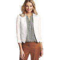 Collarless Linen Jacket Ann Taylor Loft $98