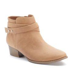 LC Lauren Conrad Women's Crisscross Ankle Boots