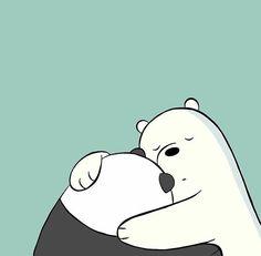 Bear Wallpaper, Cute Wallpaper Backgrounds, Wallpaper Iphone Cute, Disney Wallpaper, We Bare Bears Wallpapers, Panda Wallpapers, Cute Cartoon Wallpapers, Ice Bear We Bare Bears, We Bear