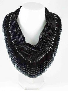 Черная косынка | biser.info - всё о бисере и бисерном творчестве