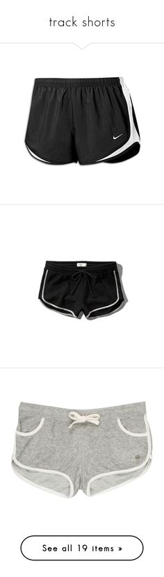 """track shorts"" by halsey666 ❤ liked on Polyvore featuring shorts, nike, bottoms, nike shorts, sporty shorts, activewear, activewear shorts, nike activewear, logo sportswear and vintage sportswear"