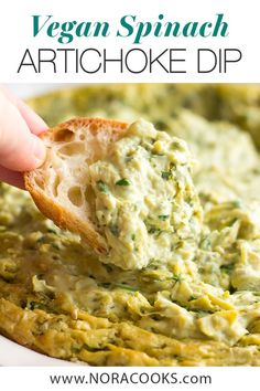 recipes appetizers The Best & Easiest Vegan Spinach Artichoke Dip, made with whole, real food ingre. The Best & Easiest Vegan Spinach Artichoke Dip, made with whole, real food ingredients (no store bought vegan cheese)! Vegan Apps, Vegan Foods, Yummy Vegan Snacks, Vegan Appetizers, Appetizer Recipes, Dairy And Gluten Free Appetizers, Gluten Free Vegan, Aperitivos Vegan, Vegan Spinach Artichoke Dip
