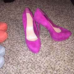 Pink Jessica Simpson Size 9 Good condition. Normal wear. (Toe scuff etc.) Jessica Simpson Shoes Heels