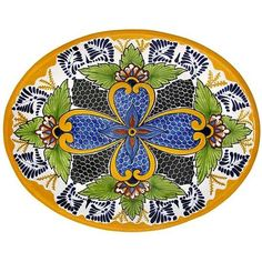 Talavera Platters Collection - Oval Platter - THP38F
