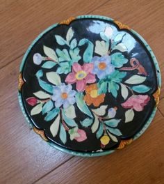 HAND PAINTED DECORATIVE PLATE Decorative Plates, Hand Painted, Tableware, Painting, Vintage, Dinnerware, Dishes, Paintings, Vintage Comics
