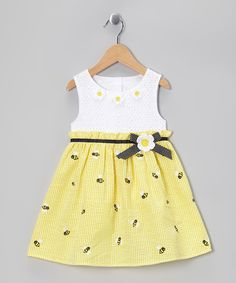 Yellow Bee Eyelet Dress - Infant, Toddler & Girls @Donette Smith