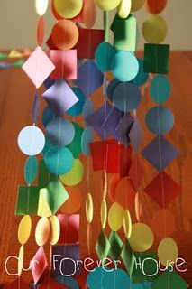 Paper decorations : rainbow birthday
