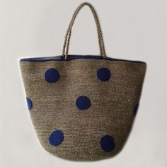 Basket blue dots NORO