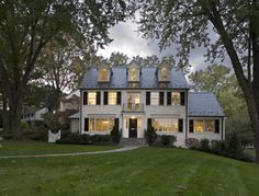 white brick black shutters, this is my dream home. Center Hall Colonial, Black Shutters, White Houses, Classic House, Home Interior, Bathroom Interior, Modern Bathroom, Architecture, Building Design