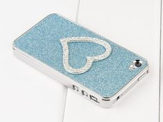 Pandamimi Girls 2nd Generation Light Blue Chrome Glitter Bling Sweet Heart Crystal Rhinestone Hard Case Cover With Cute Stylus , Free Screen Protector by Pandamimi. $8.99. Cut-out design allows user can access all keypad/button and slot durable. You don't have to remove the iphone from the case for daily usage. Screen Protector and stylus as free gifts? Fits for AT Sprint Verizon iPhone 4/4S/4G
