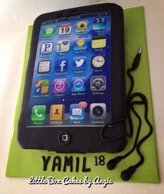 iPhone Cake  Cake by LittleBoxCakebyAngie