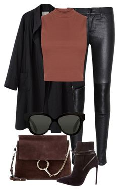 """""""Untitled #2169"""" by rosyfilm ❤ liked on Polyvore featuring J Brand, La Garçonne Moderne, Chloé, Topshop, Yves Saint Laurent and Linda Farrow"""