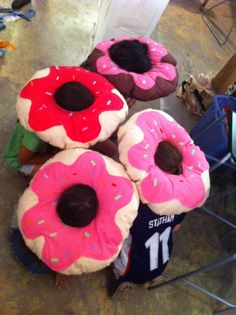 Giant donut pillows Designed and made in Summer Fashion Camp 2014 www.sewbeitstudio.com