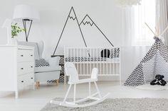 Monochrome nursery with a breathtaking simplicity
