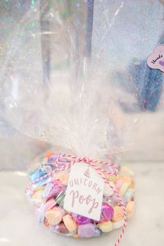 Candy favor bag from a Geometrical Magical Unicorn Party on Kara's Party Ideas | KarasPartyIdeas.com (32)