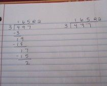 "I know this isnt k math, but i am saving it just in case! I am literally speechless. This technique may save my sanity: ""SO SIMPLE - how to teach long division in 3 minutes or less ohmyword - where has this been my whole life? Teaching Long Division, Math Division, Teaching Tools, Teaching Math, Teaching Multiplication, Creative Teaching, Teacher Resources, Teaching Ideas, Math Classroom"