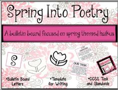 SPRING Into Poetry - A Spring Theme Bulletin Board | by Pinkadots Elementary (scheduled via http://www.tailwindapp.com?utm_source=pinterest&utm_medium=twpin&utm_content=post1514915&utm_campaign=scheduler_attribution)