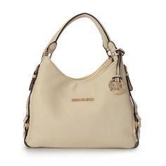 Michael Kors Bedford Large Ivory Shoulder Bags Outlet