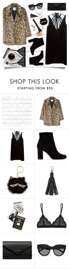 """""""Killer Queen"""" by brynhawbaker on Polyvore featuring Tempaper, MANGO, Christopher Kane, Yves Saint Laurent, Kate Spade, Belkin, Assouline Publishing, Chanel, Cosabella and Balenciaga"""