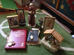 Christian Catholic Vintage Lot bibles and by AnneCutriFineArt