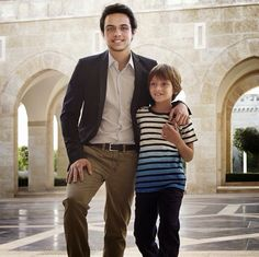 MYROYALS &HOLLYWOOD FASHİON:  Jordanian Royals on their New Year's Card-Crown Prince Hussein and Prince Hashem