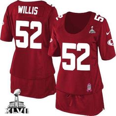 Nike 49ers  52 Patrick Willis Red Team Color Super Bowl XLVII Women s  Breast Cancer Awareness 5631176b8