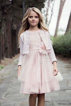ragazze 10 anni romantiche stile raffinato coordinato aletta couture