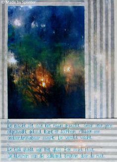 'Ruit' ansichtkaart gemaakt door Saskia Splinter #window #postcard #art #calligraphy