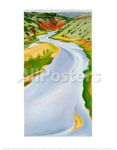 Chama River, Ghost Ranch, 1937 Landscapes Art Print - 28 x 36 cm