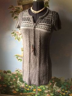 Ruff Hewn Womens Gray Cable Knit Sweater SZ Small #RuffHewn #ScoopNeck