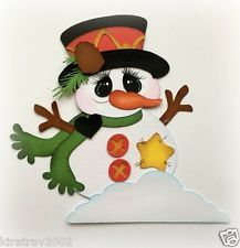 WINTER COUNTRY SNOWMAN PAPER PIECING BY MY TEAR BEARS KIRA PREMADE
