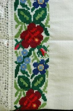 Cross Stitch Embroidery, Embroidery Patterns, Cross Stitches, Cross Stitch Geometric, Polish Folk Art, Diy And Crafts, Costumes, Floral, Handmade