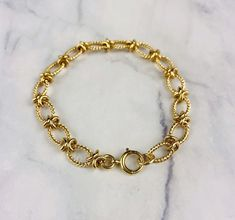 Real 9K Gold 9ct Yellow Gold Open Heart Charm Link 7.5 Rolo Chain Bracelet Hallmarked