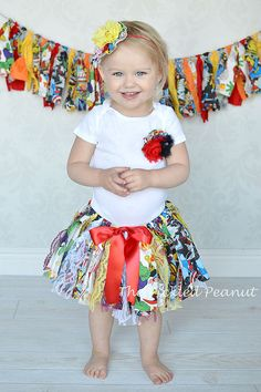 Super Girl Hero Shabby Chic Fabric Tutu Onesie by ThePickledPeanut, $58.99