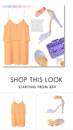 """""""Lilac orange"""" by starlight667 ❤ liked on Polyvore featuring MANGO, Twin-Set and Yazi"""
