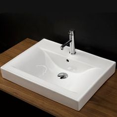 Lacava 5475 Spring Porcelain Vanity Top With an Overflow #BathroomSink #Sink #BlondyBathHome