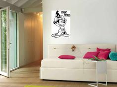 """Magic Mickey Mouse - Wall Vinyl Decor - 15"""" X 23"""" (Now with the Words """"Magic Mickey"""" As Part of the Decal) Apollo's Products http://www.amazon.com/dp/B00H8X8LK8/ref=cm_sw_r_pi_dp_nvMCvb0BX0KNC"""