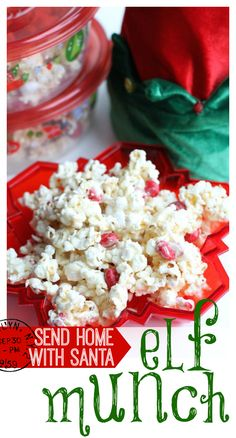 Santa may love cookies, but his elves love Elf Munch made with White Chocolate Peppermint M&Ms.  Make some for Santa to take home to the most under-appreciated characters of Christmas!  #ad #holidaybaking