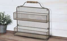 Vintage Metal Spice Rack ~ the more I look at this the more I'm SURE I can hack the overall look with Dollar Store items! Vintage Metal, Rustic Style, Dollar Stores, Farmhouse Decor, Kitchen Decor, Spice, Sweet Home, Wall Decor, Home Appliances