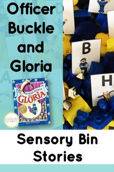 Office Buckle and Gloria Activities - This is a favorite story with first graders! Explore Officer Buckle and Gloria by Peggy Rathman using these task cards and sensory bin. Students will explore the bin and put together a mentor sentence, read sight words from the story, vocabulary, and there's even math tasks! Sorting mats are included to use with the sensory bin. A fun hands-on center! #sensorybins #officerbuckle