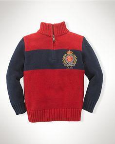 Crest Cotton Half-Zip Sweater - Sweaters  Boys 2–7 - RalphLauren.com