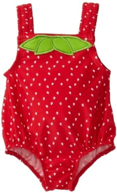 Anastasia had this last summer.  We also had the cute strawberry hat that went with it.  Osh Kosh Baby-girls Infant Strawberry One Piece Swimwear.